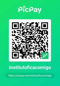 QRCode PicPay. Procure no PicPay por @institutoficacomigo e realize sua doação